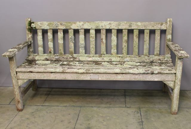 A Wonderfully Aged Teak Garden Bench – Piers Pisani